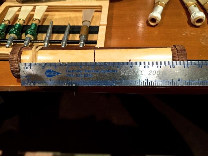 Marked bassoon cane