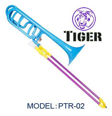 plastic trombone