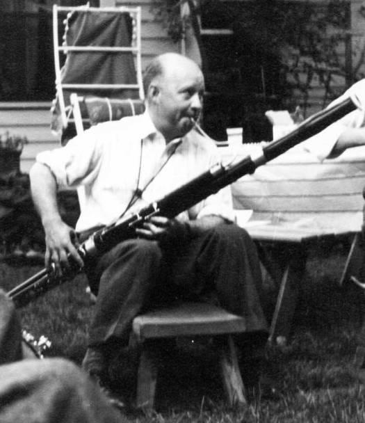Hindemith Playing Bassoon, 1940